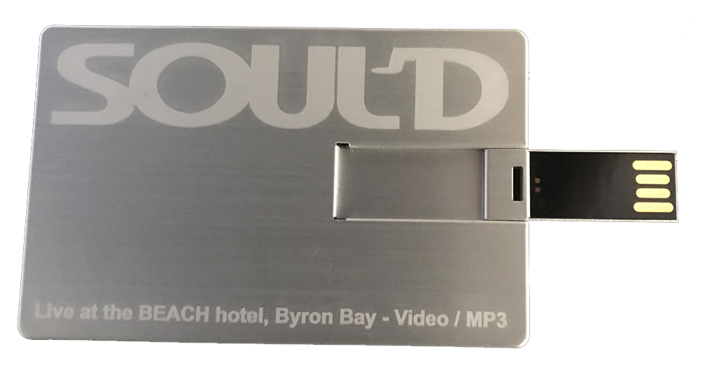Front Credit Card USB Open